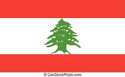 Flag of Lebanon - Lebanon flag vector illustration. created...