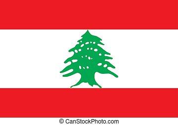 Lebanon vector flag. National symbol of Lebanon