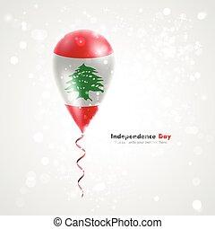 Flag of Lebanon on balloon