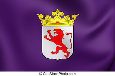 Flag of Leon Province, Spain.
