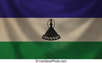 Flag of Lesotho.