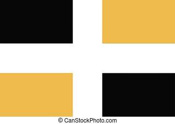 Flag of Levis, Quebec, Canada. Vector Format