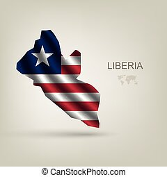 flag of Liberia as the country