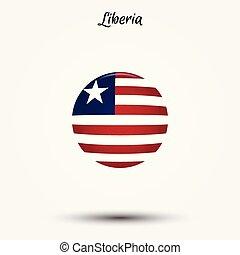 Flag of Liberia icon. Vector illustration. World flag