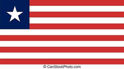 Flag of Liberia vector illustration