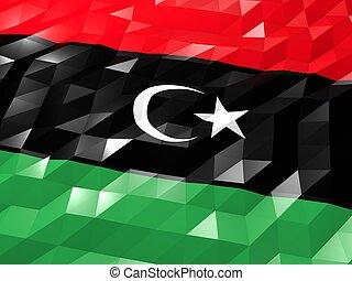 Flag of Libya 3D Wallpaper Illustration