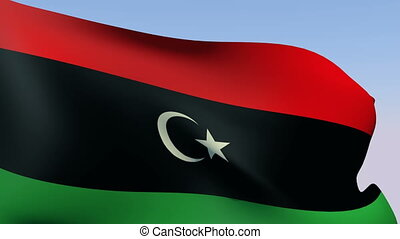 Flag of Libya - Flags of the world collection - Libya