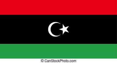 Libya vector flag. National symbol of Libya