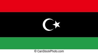 Flag of Libya, vector illustration