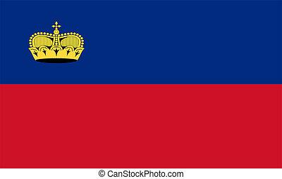 Flag of Liechtenstein.