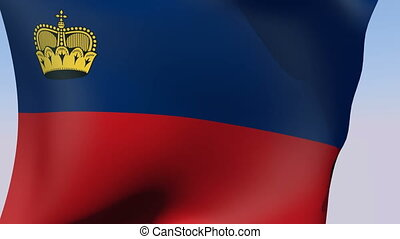 Flag of Liechtenstein - Flags of the world collection -...