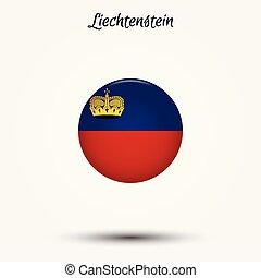 Flag of Liechtenstein icon