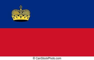 Flag of Liechtenstein official colors proportions