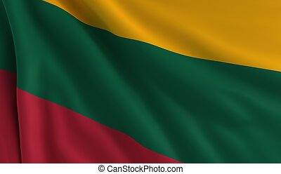 Flag of Lithuania - A flag of Lithuania in the wind