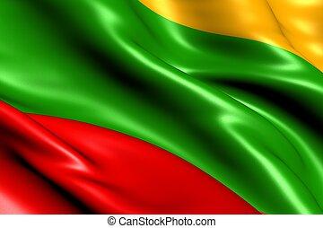Flag of Lithuania. Close Up.