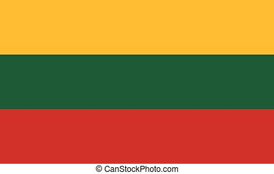 Flag of Lithuania in national colors, vector.