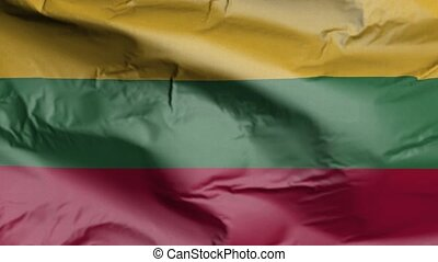 Flag of Lithuania Realistic 3D