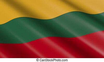Flag of Lithuania (seamless loop)