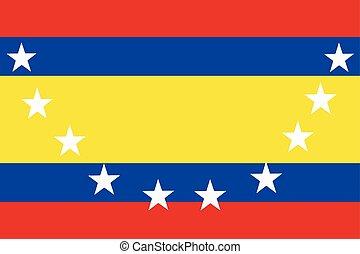 Flag of Loja Province, Ecuador. Vector Format