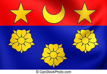 Flag of Longueuil, Canada.