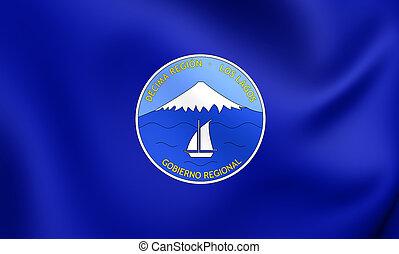Flag of Los Lagos Region, Chile.