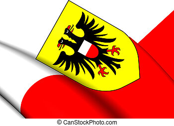 Flag of Lubeck, Germany.