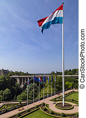 Flag of Luxembourg - Luxembourg City - Europe