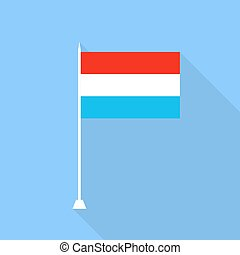 Flag of Luxembourg. Vector illustration .