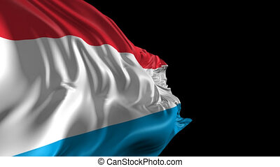 Beautiful 3d animation of the Luxemburg flag with alpha channel
