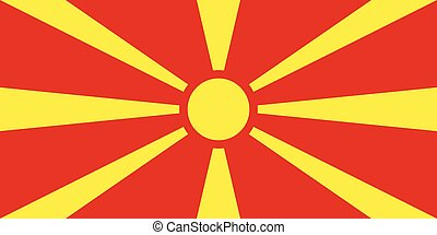 Flag of Macedonia, correct size and colors, vector