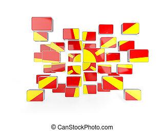 Flag of macedonia, mosaic background