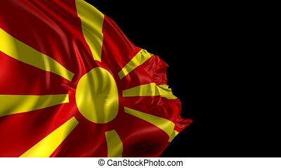 Flag of Macedonia - Beautiful 3d animation of the Macedonia...