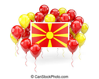 Flag of macedonia with balloons