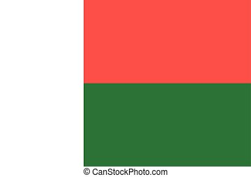Flag of Madagascar correct proportions and colors