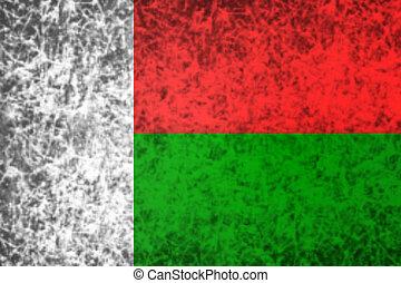 Flag of Madagascar.