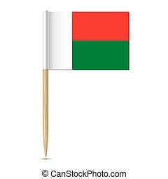 flag of Madagascar toothpick on white background