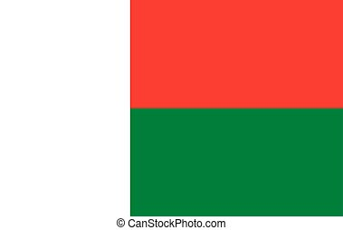 Flag of Madagascar.
