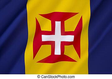 Flag of Madeira - The flag of the Madeira archipelago ...