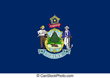Flag of Maine correct size color illustration