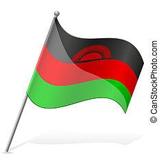 flag of Malawi vector illustration