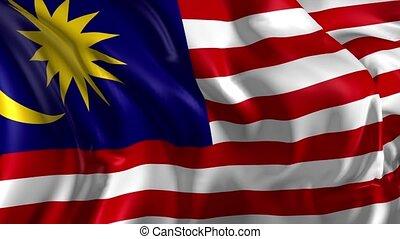 Flag of Malaysia - Beautiful 3d animation of the Malaysia...