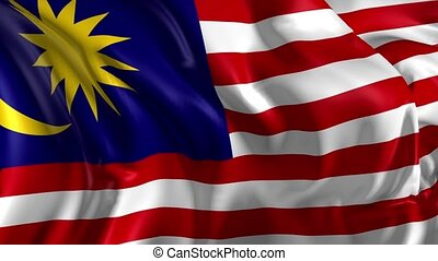 Flag of Malaysia - Beautiful 3d animation of the Malaysia...