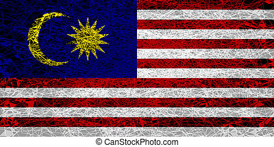 Flag of Malaysia.