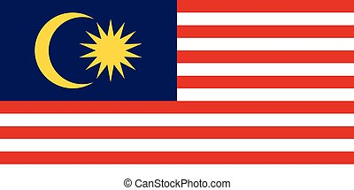 Flag of Malaysia in correct proportions and colors
