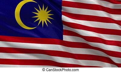 Flag of Malaysia seamless loop