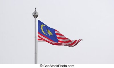 Flag of Malaysia waving in the wind