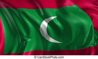 Flag of Maldives - Beautiful 3d animation of the Maldives in...