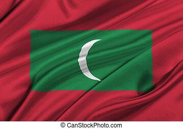 Flag of Maldives.