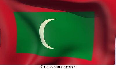 Flag of Maldives - Flags of the world collection - Maldives