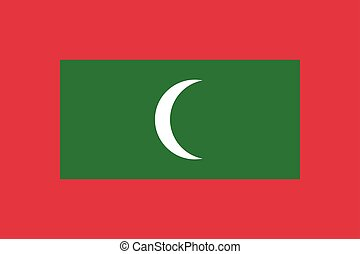 Flag of Maldives in correct proportions and colors